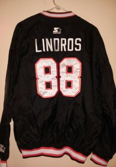 c46e40aa5 Eric Lindros 88 NHL Philadephia Flyers Starter Pull Over Jacket (Pre-Owned)