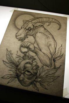 goat tattoo