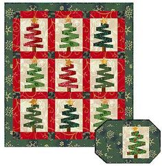 Very Merry Christmas Trees Quilt Pattern -- great placemat pattern