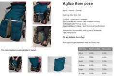 Aglizo kørepose  og dun ben pose - tøj til handicap kørestol