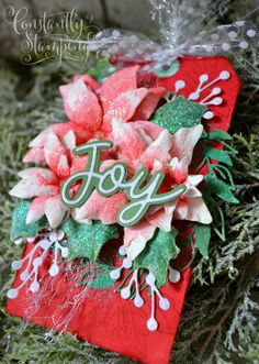 GDP269ConnieCollins-003 copy Stampin Up Christmas, Christmas Cards, Poinsettia Cards, Christmas Wreaths, Christmas Ornaments, Stampin Up Cards, Paper Crafts, Joy, Holiday Decor