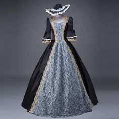 Women Retro Medieval Renaissance Victorian Dresses Princess Ball Gowns Dresses Masquerade Costumes A XXXL Victorian Dress Costume, Gothic Victorian Dresses, Rococo Dress, Baroque Dress, Medieval Dress, Gothic Dress, Costume Dress, Renaissance Gown, Old Dresses