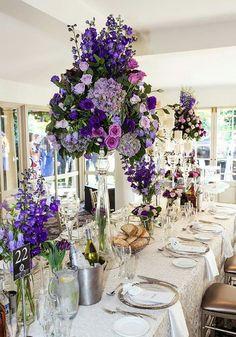 Impressive floral design for a wedding table decor.