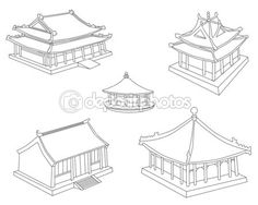 Collection of the Chinese houses
