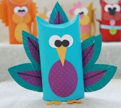 Toilet Tube Animals - Creative Me Inspired You! - - Learn how to make adorable toilet tube animals in this fun craft using recycled cardboard tubes. Toilet Tube, Toilet Roll Craft, Toilet Paper Roll Crafts, Crafts To Make, Crafts For Kids, Arts And Crafts, Easy Crafts, Rolled Paper Art, Homemade Toys