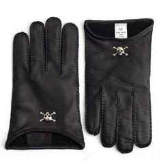 Vivienne Westwood leather skull gloves