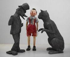Jim Dine, Two Thieves, One Liar, 2006, bois calciné et bois peint, 190 x 231 x 122 cm (courtesy galerie Daniel Templon, Paris et Bruxelles)