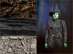 "WICKED The Musical ""Elphaba is connected to the inside of the earth, so patterns woven into her dress include fossils and look like the earth's strata."" - Susan Hilferty, WICKED Costume Designer"