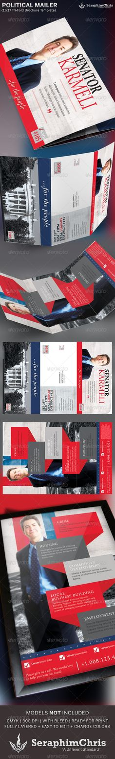 Vote Political Flyer Mailer Template | Flyer Template, Political