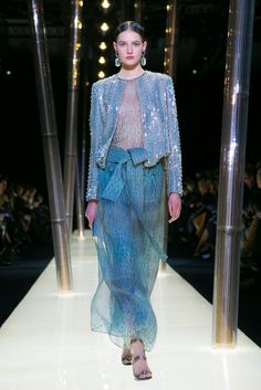 A look from the Armani Privé Spring 2015 Couture collection.