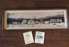 Vintage Norman Rockwell Gallery Main Street Stockbridge Framed Canvas Print
