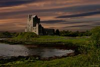 DUNGUAIRE IRISH CASTLE - The most visible features in the Irish countryside are the innumerable castle remains, tower houses and intact castles.