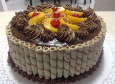 Tortas,tartas y más dulces: TORTA MOUSSE DE CHOCOLATE CON OBLEAS