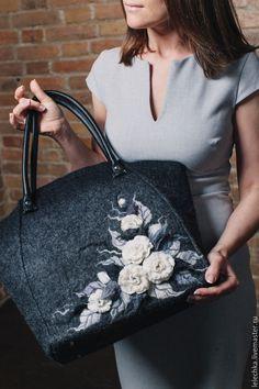 """Купить Сумка """"Меланж"""" валяная - сумка, сумка ручной работы, сумка женская, купить сумку"""