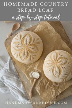Homemade country bread loaf and how to score it: a step-by-step tutorial - handmadefarmhouse.com