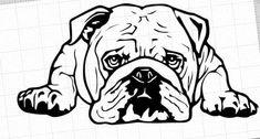 Bulldog Wallpaper, Bulldog Drawing, Wooden Spoon Crafts, Wood Burn Designs, House Mouse Stamps, Animal Sewing Patterns, San Bernardo, Crazy Dog Lady, Stencil Patterns