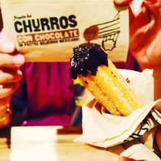 Just found out that @madmexau  did a great churros  // maybe one serving of the chocolate sauce  is not enough