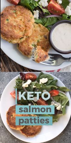 These Crispy Keto Salmon Patties are packed with tender salmon, cajun spices and fried until golden brown! An easy low carb dinner perfect for busy nights! The post Crispy Keto Salmon Patties appeared first on Woman Casual. Ketogenic Diet Meal Plan, Diet Meal Plans, Ketogenic Recipes, Diet Recipes, Healthy Recipes, Paleo Diet, Diet Foods, Meal Prep, Paleo Food