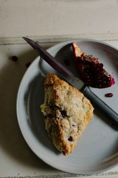 pomegranate + white chocolate scones | the vanilla bean blog