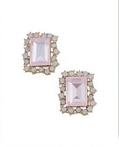 Emerald cut Pink sapphires with opals , gorgeous