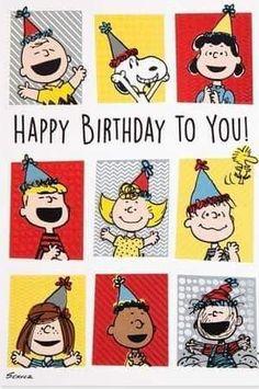 Happy Birthday Icons, Happy Birthday Greetings Friends, Happy Birthday Pictures, Birthday Blessings, Happy Birthday Messages, Happy Birthday Quotes, Birthday Love, Snoopy Birthday Images, Peanuts Gang Birthday Party