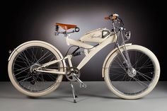 Agnelli Milan Bikes | Designer: Luca Agnelli. Handmade electric bicycles with vintage parts that date back to the 1950s, from the frames to the fuel tanks, but carefully reworked with modern-day modifications and accessories.