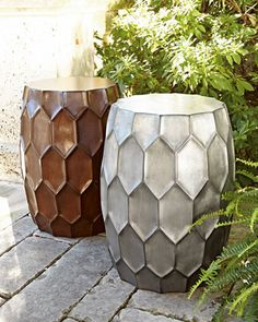 Honeycomb Garden Stool by NM EXCLUSIVE at Horchow.
