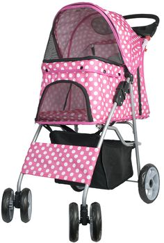 VIVO Four Wheel Pet Stroller, for Cat, Dog and More, Foldable Carrier Strolling Cart, Multiple Colors *** Remarkable product available now. : Dog strollers