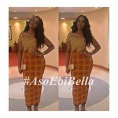 An is a wedding guest {bella} looking stunning in aso-ebi – the fabric/colours of the day, at a traditional engagement or wedding. How To - BellaNaija Weddings. African Attire, African Dress, African Clothes, Ghanaian Fashion, African Fashion, Kitenge, African Women, African Art, Ankara Styles