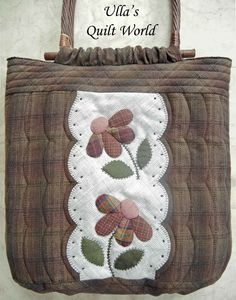 Ulla's Quilt World: Quilt bag with flowers