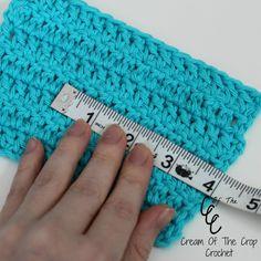 Understanding Crocheting : ... Of The Crop Crochet ~ How to read and make a gauge {Crochet Tutorial