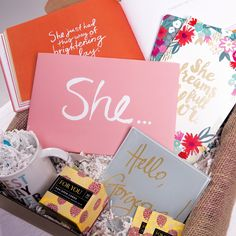 Looking for the perfect Mothers Day gift? Let her know SHE is perfect with an Isn't She Lovely Box from Surprise GIft Co. www.surprisegiftco.com