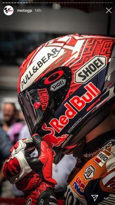Marc Marquez, Gp Moto, Moto Bike, Racing Helmets, Racing Motorcycles, Motorcycle Shop, Motorcycle Helmets, Motogp, Bajaj Motos