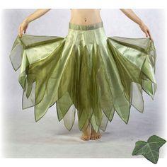 Bridal Faery jupe - taille L 3 - Gaia - vert naturel tendre