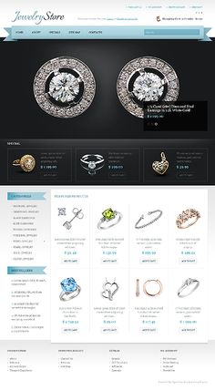 47 best jewelery website templates images on pinterest in 2018
