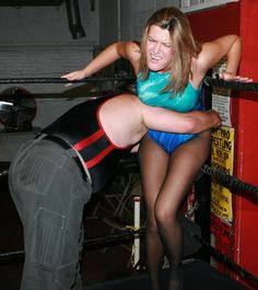 Jenelle Sinclair in mixed wrestling action.