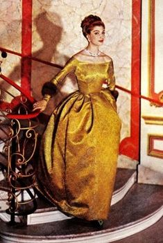 A 1959 Christian Dior evening gown to wear with the 1954 Roger Vivier evening shoes
