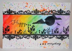 Card made by Phillipa Lewis using Craftwork Cards Masterpiece Stamp Duo - Ornate Frame & Landscape Artist.