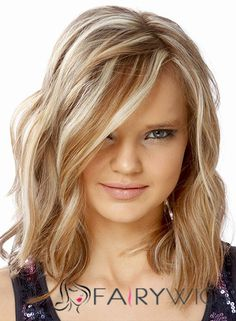 Maddie Hasson Hairstyle Medium Wavy Full Lace Human Wigs