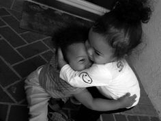 sweet hugs...the little girl looks like my daughter @ that age!! so sweet!