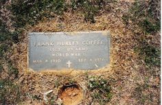 Father's headstone.  © 2014 Jack Coffee.  Use with permission only