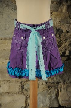 Pretty purple mermaid skirt For girl's fairy by OshunCreations, £8.99