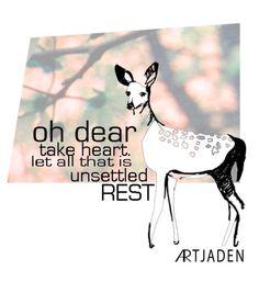 little design work by   ARTjaden   (original deer drawing and photo)
