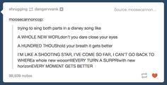 Singing Disney Songs