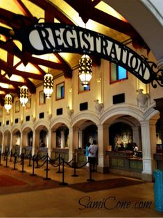 """After walking into """"El Centro"""", you'll immediately find this stunning registration lobby on your right."""