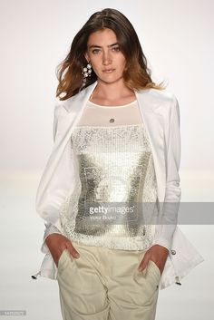 A model walks the runway at the Sportalm show during the Mercedes-Benz Fashion Week Berlin Spring/Summer 2017 at Erika Hess Eisstadion on June 29, 2016 in Berlin, Germany.  (Photo by Victor Boyko/Getty Images for IMG)