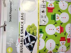 Love the Snowman snack bag!  Cute stocking stuffer!