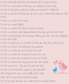 Poem for Mother's day – printable