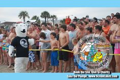 "#PolarBearPlunge Annual Event for Charity... Book a site and join the ""Club!"" www.oceanlakes.com"