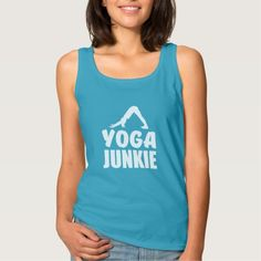 Yoga Junkie funny tank top
